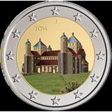 Saksa 2014 2 € Pyhän Mikaelin kirkko VÄRITETTY
