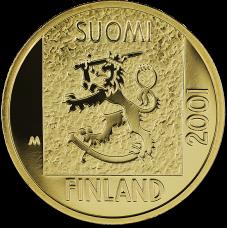 Suomi 2001 1 Markan muistoraha KULTA