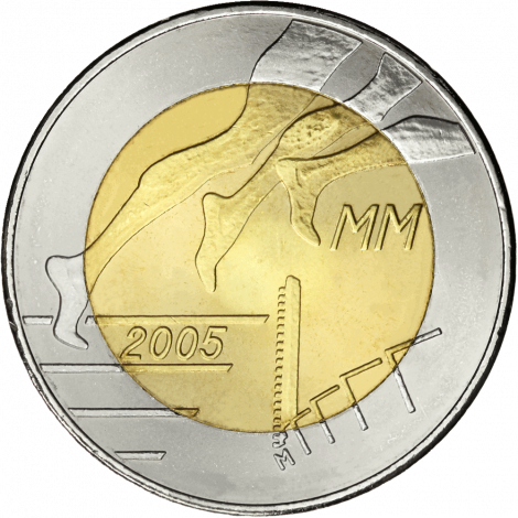 Suomi 2005 5 € Yleisurheilun MM-kisat UNC