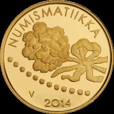 Suomi 2014 100 € Ensimmäinen markka ja numismatiikka KULTA PROOF