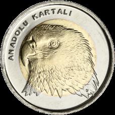 Turkki 2014 1 Lira Kotka UNC