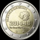 Belgia 2014 2 € Ensimmäinen maailmansota 100 vuotta UNC