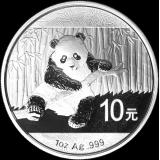 Kiina 2014 10 Yuan Panda 1 Unssi HOPEA