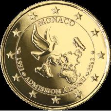 Monaco 2013 2 € YK:n jäsenenä 20 vuotta KULLATTU