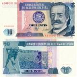 Peru 1986 10 Intis P128 UNC