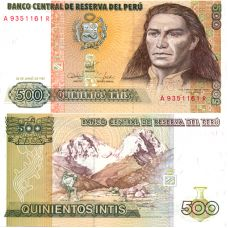 Peru 1987 500 Intis P134b UNC