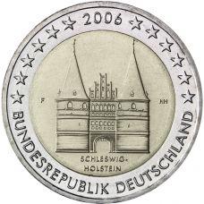 Saksa 2006 2 € Holstentor F UNC