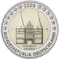 Saksa 2006 2 € Holstentor J UNC