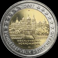 Saksa 2007 2 € Schwerinin linna A UNC