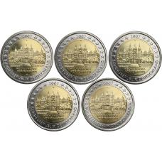 Saksa 2007 2 € Schwerinin linna ADFGJ UNC