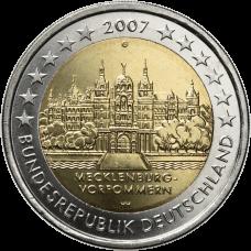 Saksa 2007 2 € Schwerinin linna G UNC