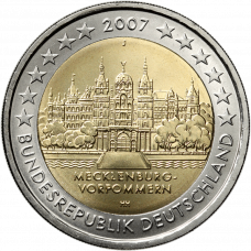 Saksa 2007 2 € Schwerinin linna J UNC