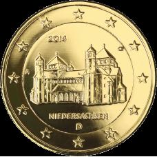Saksa 2014 2 € Pyhän Mikaelin kirkko A KULLATTU
