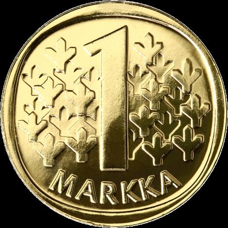 Suomi 1969 1 Markka KULLATTU