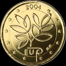 Suomi 2004 2 € EU Laajentuminen KULLATTU