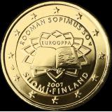 Suomi 2007 2 € Rooman sopimus KULLATTU