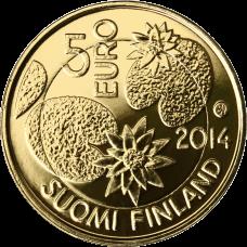 Suomi 2014 5 € Pohjolan luonto Erämaa KULLATTU