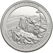 "USA 2014 $0,25 Virginia Shenandoah National Park ""D"" UNC"