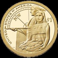"""USA 2014 $1 Sacagawea Native American """"D"""" UNC"""