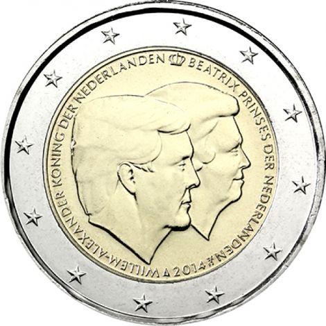 Alankomaat 2014 2 € Kaksoismuotokuva UNC