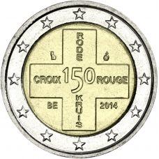Belgia 2014 2 € Punainen Risti 150v UNC