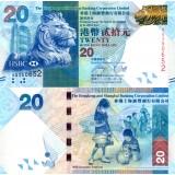 Hong Kong 2010 20 Dollars P212 UNC