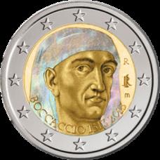 Italia 2013 2 € Giovanni Boccaccio Hologrammi VÄRITETTY