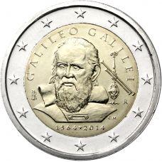 Italia 2014 2 € Galileo Galilei 450v UNC