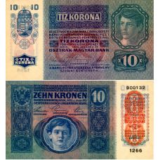 Itävalta 1915 10 Kronen P51a AUNC