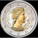 Latvia 2014 2 € Hologrammi VÄRITETTY