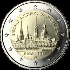 Latvia 2014 2 € Riika - Euroopan kulttuuripääkaupunki UNC