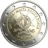 Malta 2014 2 € Poliisivoimat 200v UNC