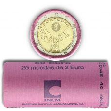 Portugali 2014 2 € Neilikkavallankumous UNC RULLA