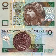 Puola 1994 10 Zlotych P173a UNC