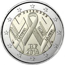 Ranska 2014 2 € Maailman AIDS-päivä UNC