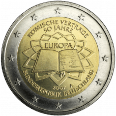 Saksa 2007 2 € Rooman sopimus A UNC