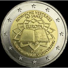 Saksa 2007 2 € Rooman sopimus D UNC