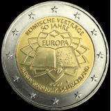 Saksa 2007 2 € Rooman sopimus F UNC