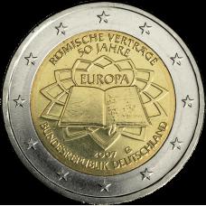 Saksa 2007 2 € Rooman sopimus G UNC