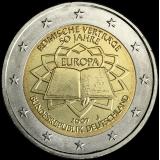 Saksa 2007 2 € Rooman sopimus J UNC