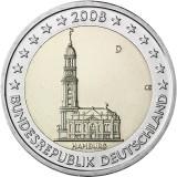 Saksa 2008 2 € Hampuri D UNC