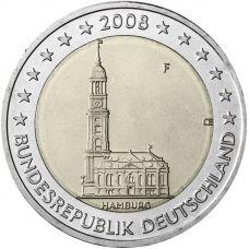 Saksa 2008 2 € Hampuri F UNC