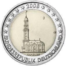 Saksa 2008 2 € Hampuri J UNC