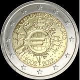 Saksa 2012 2 € Euro 10 vuotta D UNC