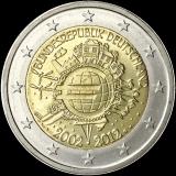 Saksa 2012 2 € Euro 10 vuotta G UNC