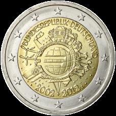 Saksa 2012 2 € Euro 10 vuotta J UNC