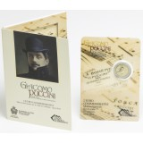 San Marino 2014 2 € 90 vuotta Giacomo Puccinin kuolemasta UNC