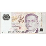 Singapore 2011 2 Dollars UNC