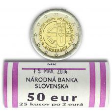 Slovakia 2014 2 € EU:n jäsen 10v UNC RULLA