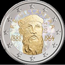 Suomi 2013 2 € F.E. Sillanpään syntymästä 125 vuotta Hologrammi VÄRITETTY